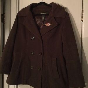 Lane Bryant Jackets & Coats - 18/20 Brown pea coat